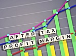 Image of graph with text After Tax Profit Margin