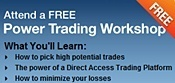 Ad for Online Trading Academy's half day class with text Attend a Free Power Trading Workshop